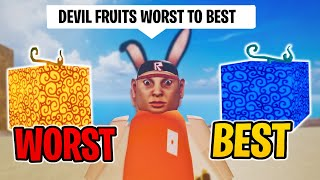 🔥 Ranking Every Devil Fruits WORST TO BEST in Blox Fruits!
