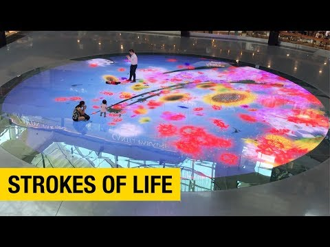An Interactive Digital Installation Inside a Shopping Mall in Singapore
