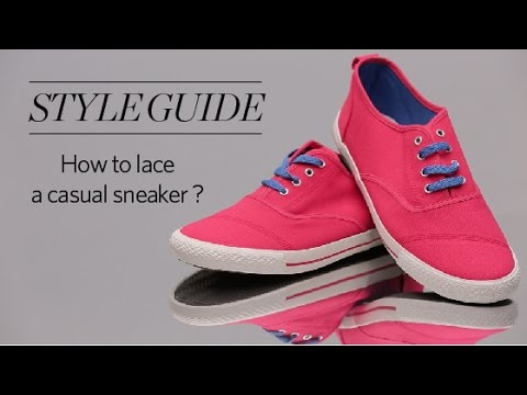 b28931bae754 How to tie shoelaces of your sneakers Shoes - YouTube
