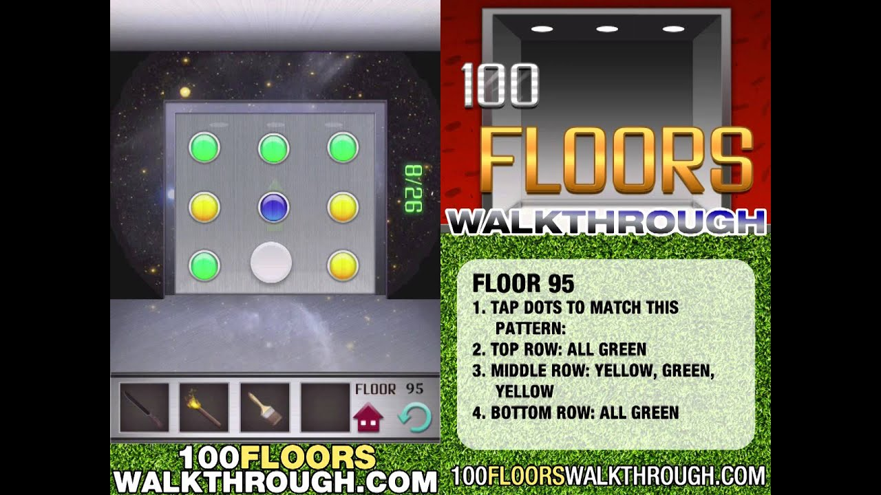 Floor 95 walkthrough 100 floors walkthrough floor 95 for 100 floors 17th floor answer