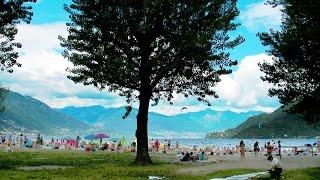 Cannobio Beach Lago Maggiore HD