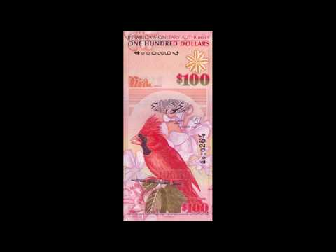All Bermudian Dollar Banknotes - 2009 Animals Issue