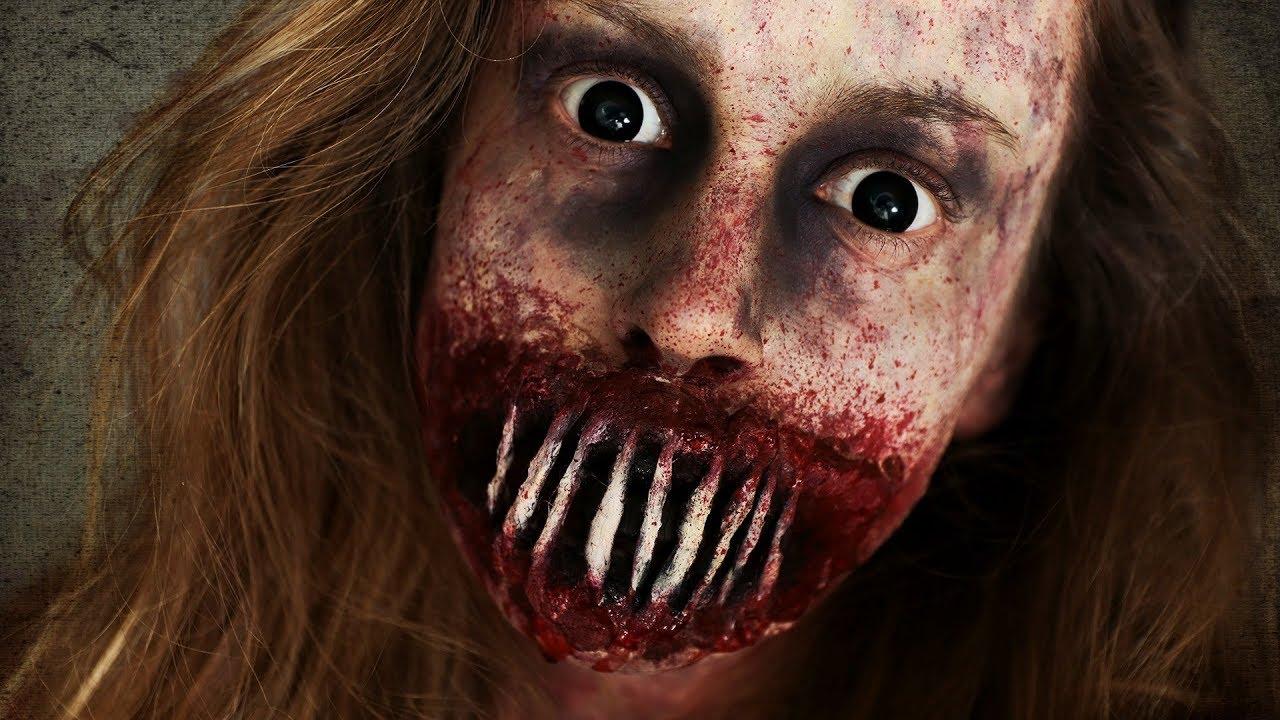 Halloween Zombie Schmink.Opengesneden Dichtgenaaide Zombie Mond Halloween Tutorial