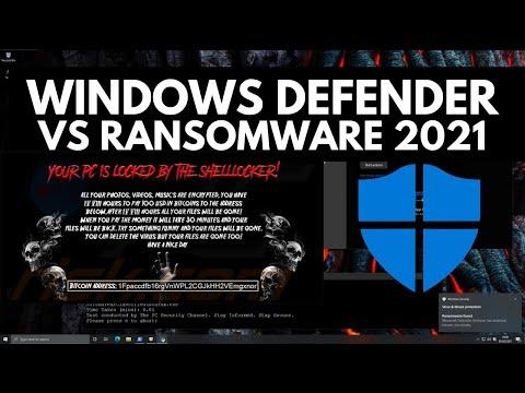 Windows Defender vs Ransomware in 2021