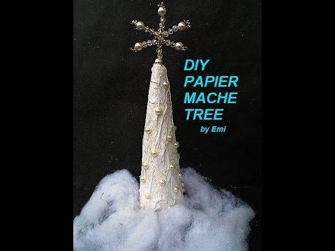 PAPIER MACHE TREES, Paper Mache, Christmas Tree, Paper Crafts, Sculpture