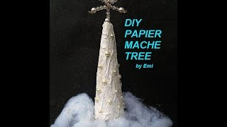 Papier Mache Trees, Paper Mache, Christmas Tree, Paper Crafts, Sculpture