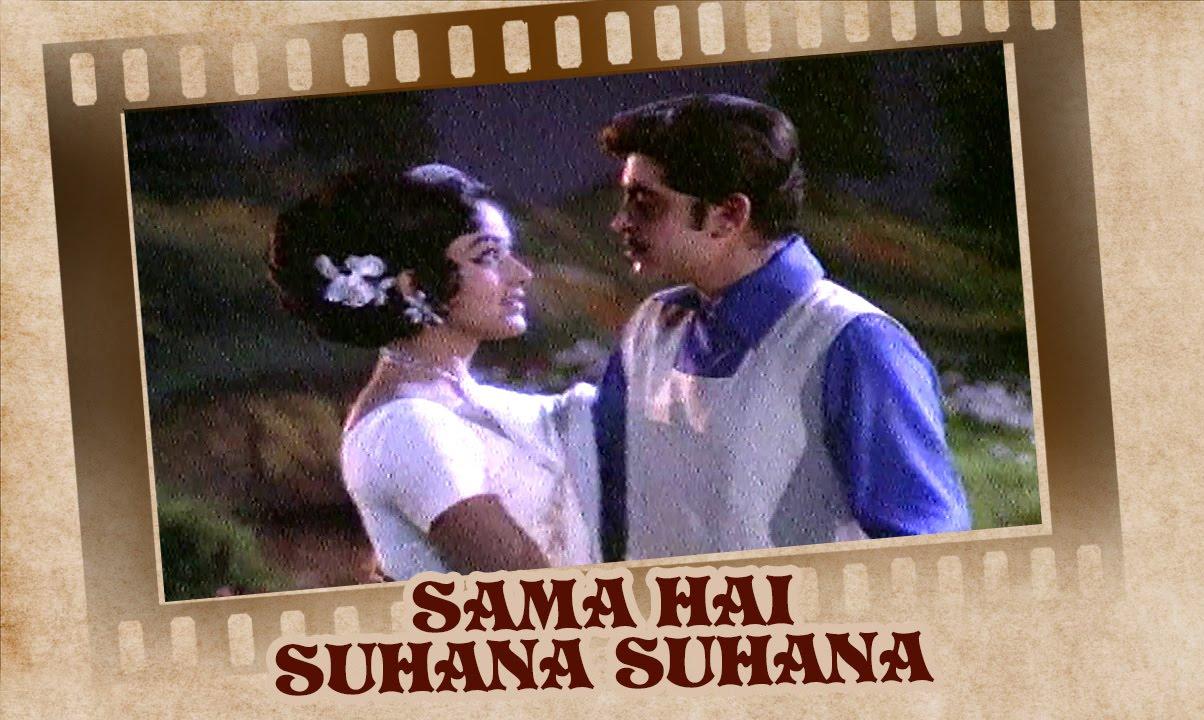 Download Sama Hai Suhana Suhana (Video Song)   Ghar Ghar Ki Kahani   Rakesh Roshan & Bharathi