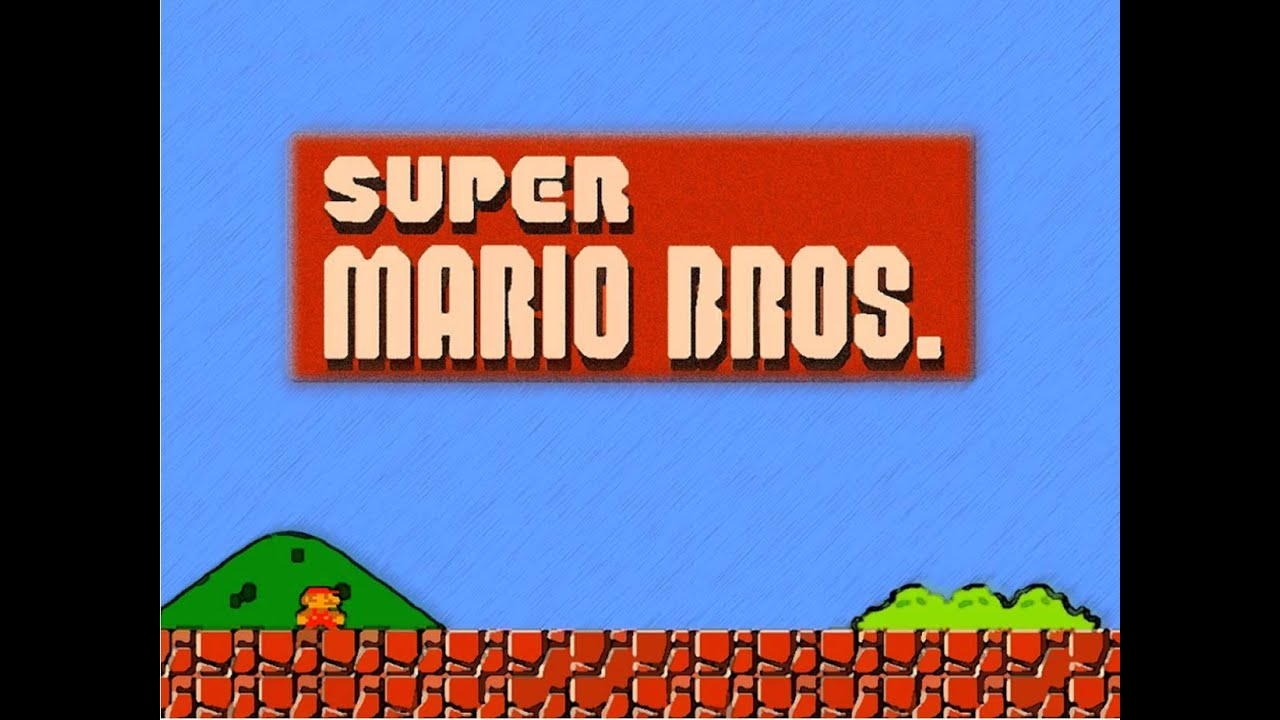 original super mario bros logo