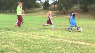 u7 soccer bryson scores in first game