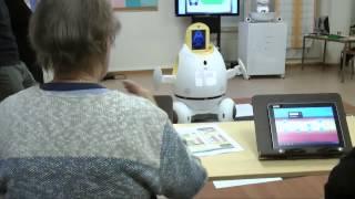 Hilarious robot presentation fail at retirement home