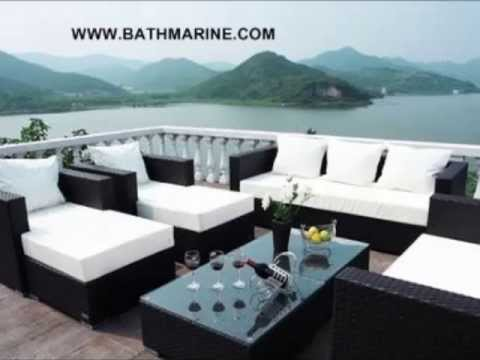 es muebles jardin rattan sinttico baratos exterior sofas sillones mesas tumbona conjunto - Muebles De Jardn Baratos