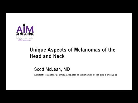Unique Aspects of Melanomas of the Head and Neck