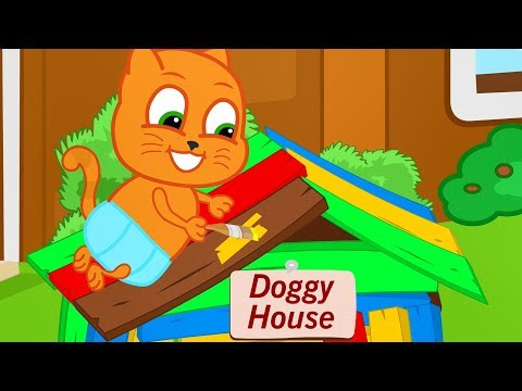 Gatos E Familia Costura Vestidos Em Casa Desenho Animado Em