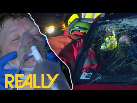 Woman Has Major Signs Of Brain Injury After Car Accident | Helicopter ER