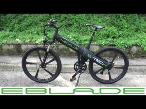 Nexus EBLADE da E-TECH. Bici Electrica / Electric Bike 250watt, 36volt 12amp (435watt)
