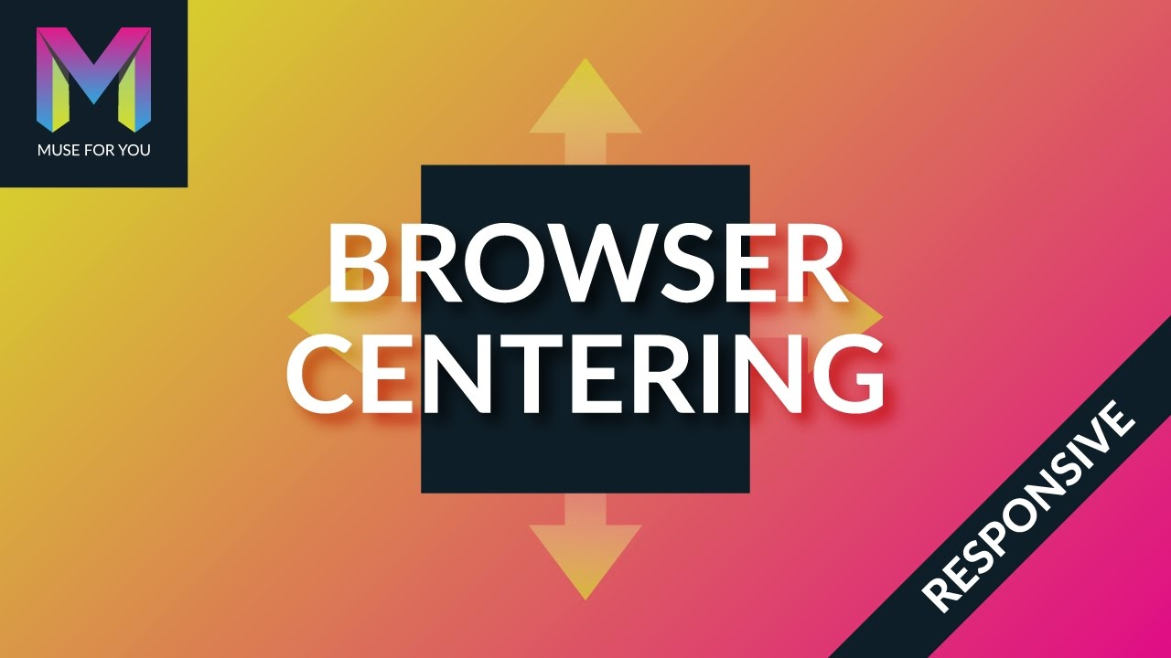 How To Center a Logo Within the Browser in Adobe Muse - Web
