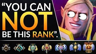 """GUESS THE RANK - """"SMURF Invoker TOO STRONG?!"""" - Immortal Coach Gameplay Review 