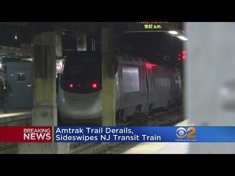 Amtrak Acela Clips NJ TRANSIT Train