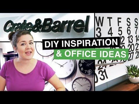 Crate&Barrel DIY Inspiration & Office Ideas - Inspo Shop with Me! | Sea Lemon