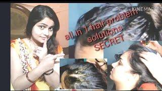 head massage step by step heavy hair Oiling with hight bun hair style