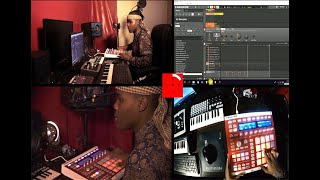Ambitiouz Entertainment's Blaq Diamond Makes Beat In 10 Minutes For #MeAgainstTime (C Jay & Aubrey)