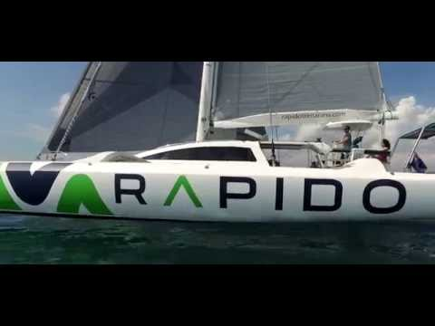 RAPIDO 60 TRIMARAN, WORLDS FASTEST CRUISING MULTIHULL.: This was a very interesting project, On my way back from Vietnam, I dropped into Batam Island off the coast of Sumatra, to film a friends brand new amazing carbon fibre yacht he had just built. Literally a week or two old.  TALK ABOUT FAST ! Stable and so easy to sail !  It's very much the cruising boat of the future,   I didn't have all my normal crew or cameras with me and decided to shoot this on a tiny SONY A7s, which was pretty much useless when shooting from a dingy in rough water. I asked my son to purchase a little DJI OSMO for a bit of fun and to bring it up with him (which ended being a life saver) And we also we asked a DJI drone crew to come in from Jakarta to help out as well. The stability results from these little DJI cameras were outstanding ! The RAPIDO TRIMARAN people were more than happy with the end result. :) And me being a very fussy camera nerd... was blown away ! Will these little toy cameras replace my RED CAMERAS... No. But I have to say, they were the perfect tools for this project.