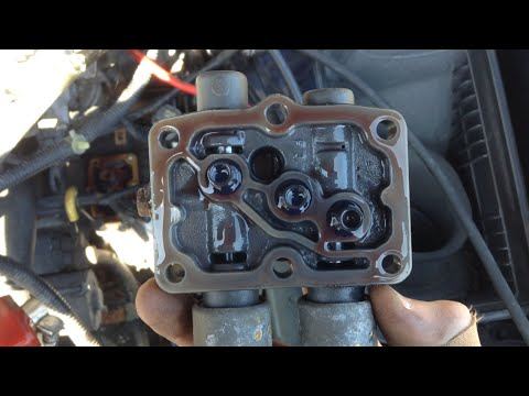 how to clean solenoid screen filters 2002 acura tl s youtube