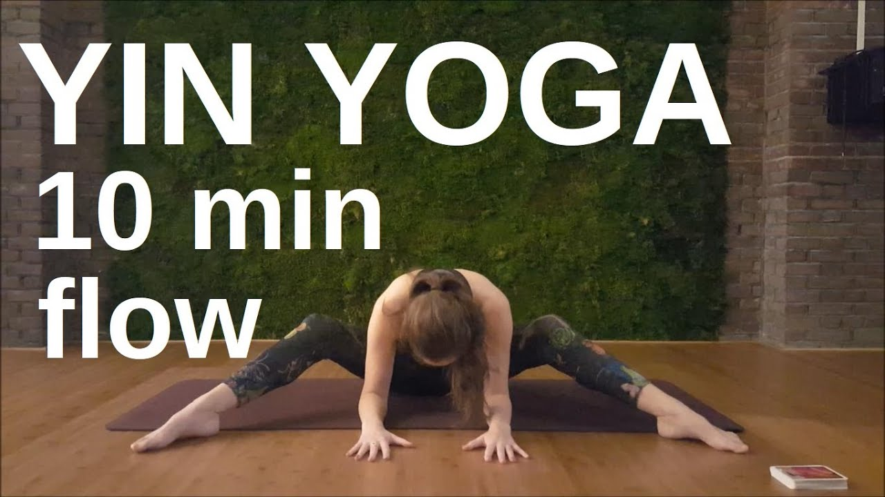 10 minutes Yin Yoga flow for stress relief | Yoga at home ...