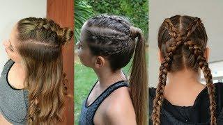 3 Peinados Deportivos con trenzas 💜 Sporty Hairstyles 💚 Belleza sin Limites