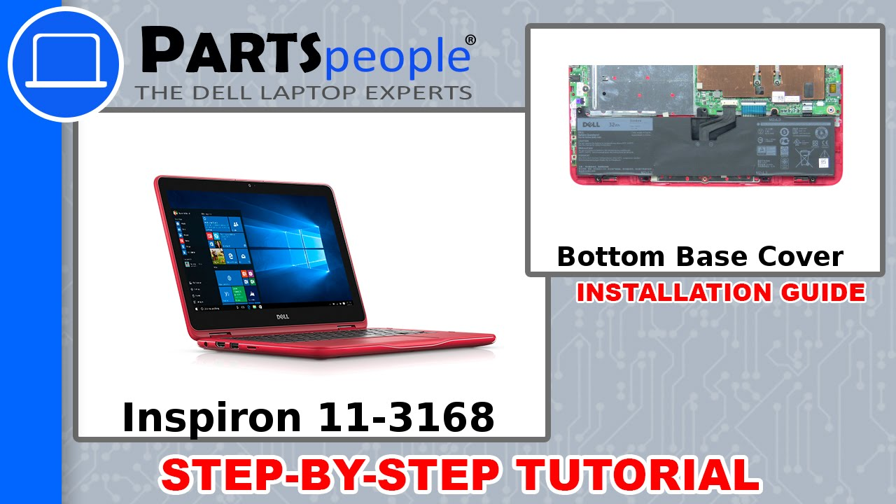 Dell Inspiron 11-3168 (P25T001) Bottom Base Cover How-To Video Tutorial