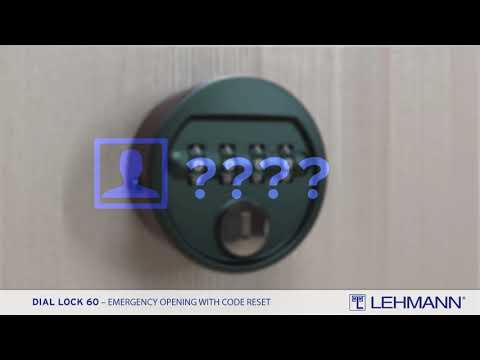 DIAL LOCK 60 Fixcode - emergency opening with code reset