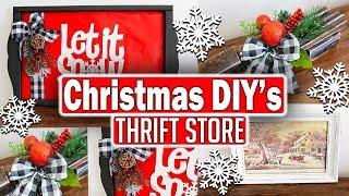 Christmas Thrift Store Makeover 2019 🎄 Christmas Home Decor Ideas 🎄 Trash to Treasure