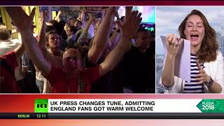 Changing its tune: UK press admits England fans received warm welcome in Russia
