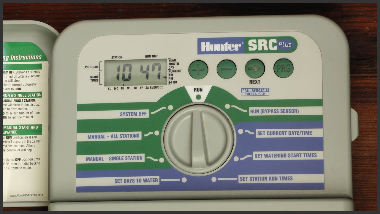 hight resolution of how to program a hunter src plus sprinkler timer youtubehunter src wiring diagram 5