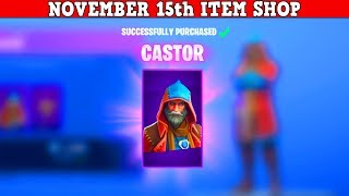 Fortnite Item Shop (November 15th) | OG Rare Skin Is Back + *NEW* Castor & Elmira Skin!