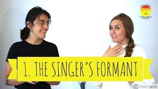 1. Singing loud - The singer's formant