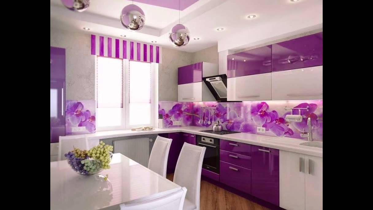 purple kitchen interior design ideas youtube. Black Bedroom Furniture Sets. Home Design Ideas