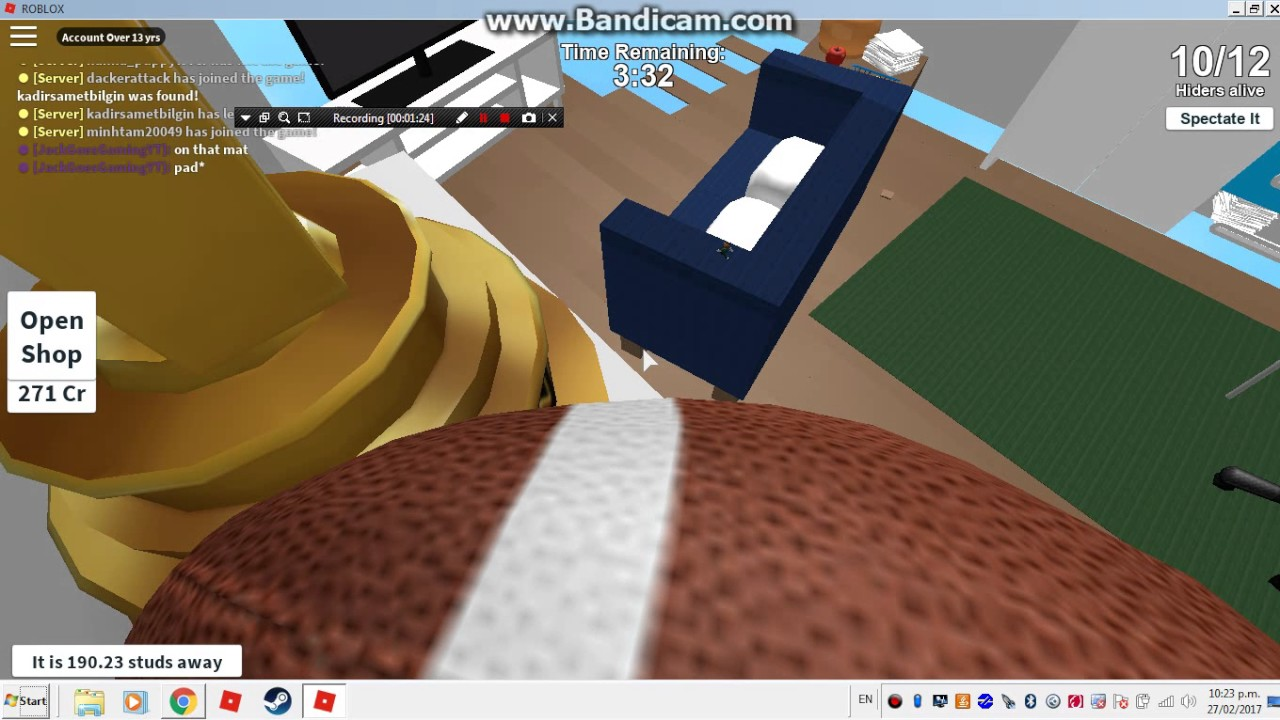 Roblox Hide And Seek Extreme Best Hiding Spots Ethan S Bedroom Youtube