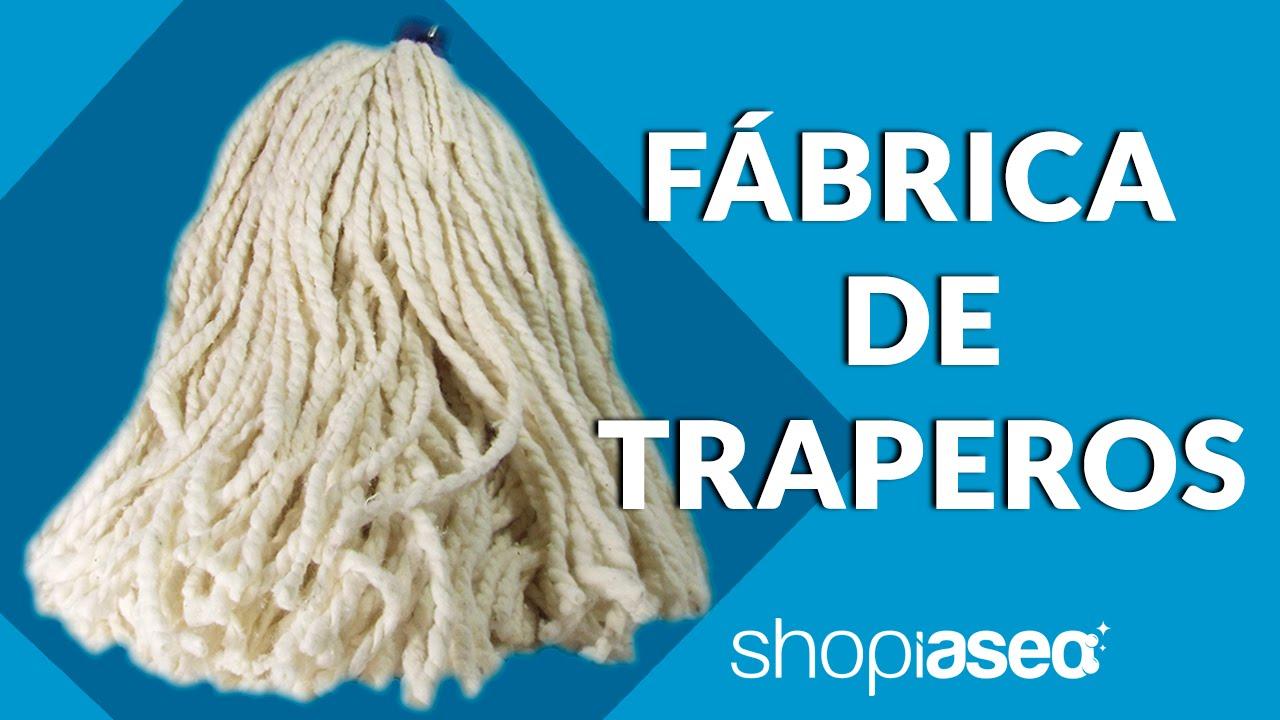 F brica de traperos youtube for Como echar gotele sin maquina