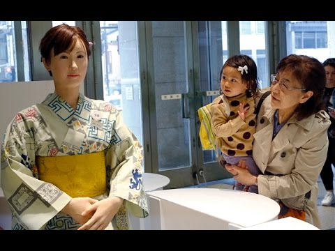 Japan robot receptionist welcomes shoppers