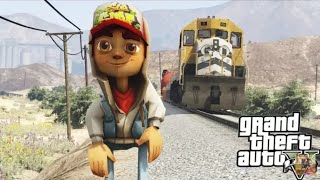 GTA V jake ( Subway surfers)  GTA 5 Mods - JAKE FROM SUBWAY SURFERS MOD (GTA 5 Mods Gameplay)