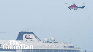Viking Sky: rescuer's camera shows passengers being airlifted to safety