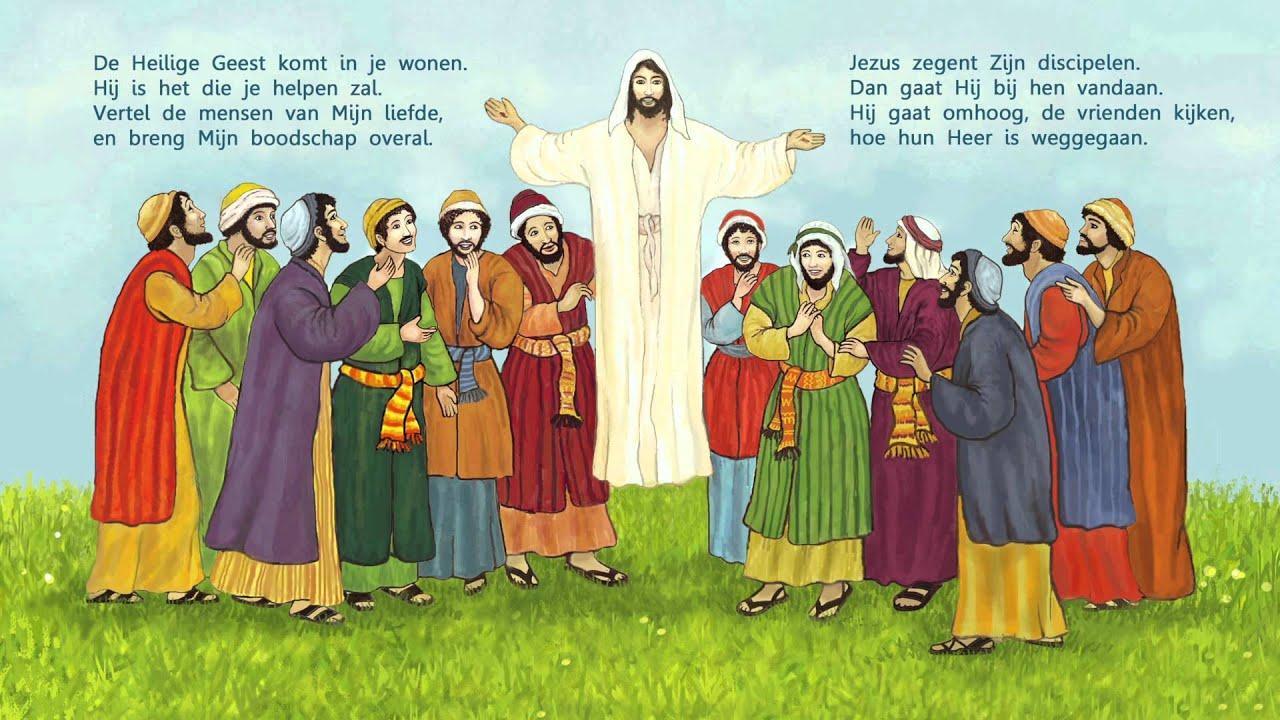 jezus gaat naar de hemel