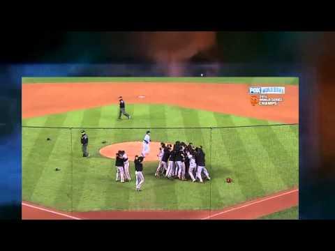 Ben shows Jack San Francisco Giants winning 2014 World Series