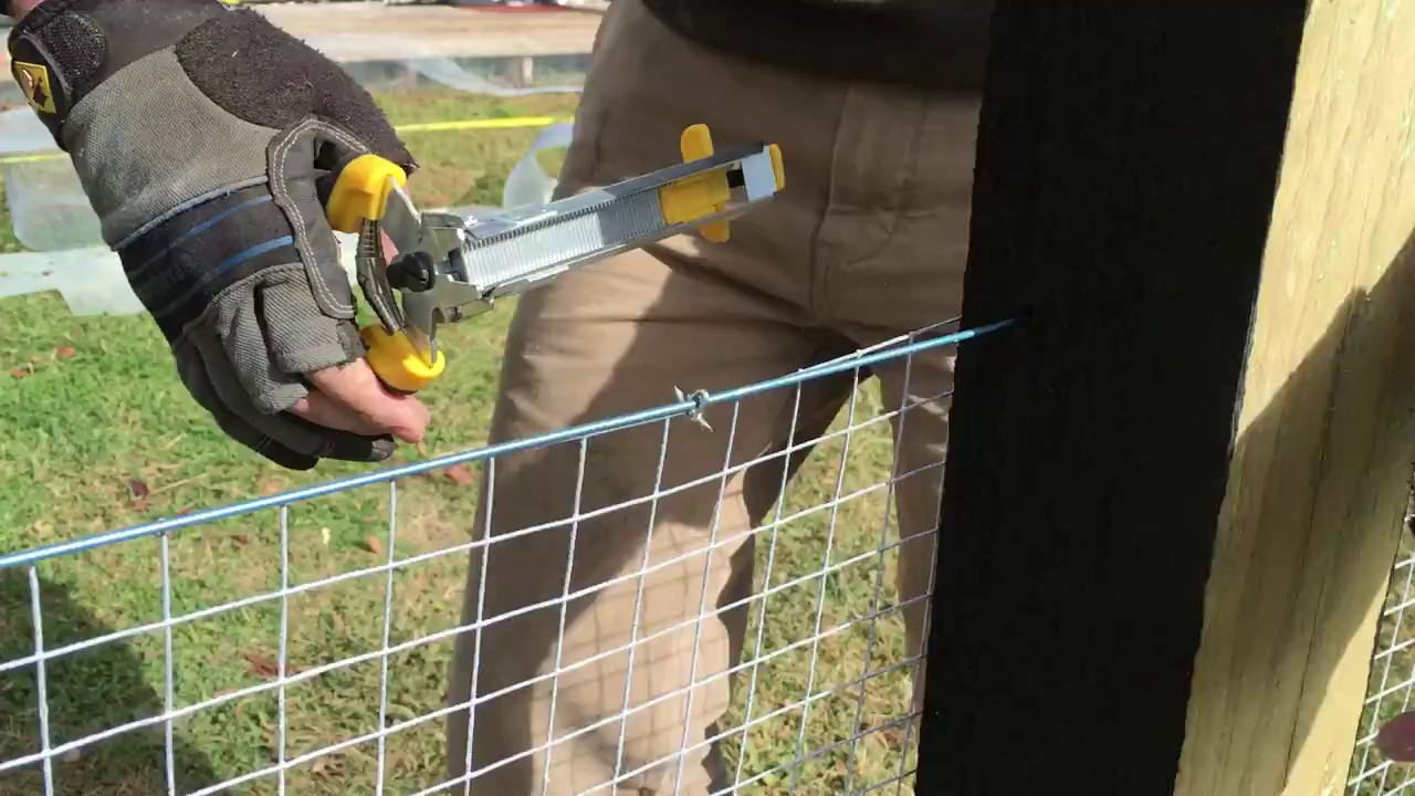 How To Attach Shade Cloth To Fence With Hog Ring Pliers