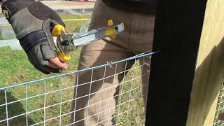 How to attach Shade Cloth to Fence with Hog Ring Pliers Kit