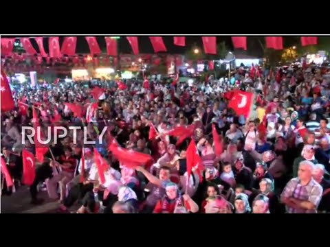 LIVE: Pro-Erdogan supporters rally in Ankara