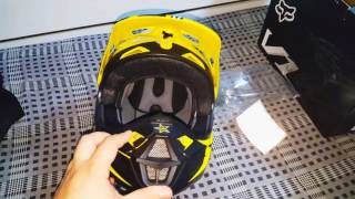 UNBOXING CAPACETE FOX V1 ROCKSTAR ENERGY DRINK + ÓCULOS DRAGON ROCKSTAR + NUMBER PLATE CIRCUIT