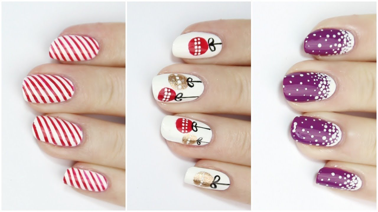 Nail Art Ideas nail art melbourne : DIY QUICK & EASY FESTIVE NAIL ART IDEAS FOR CHRISTMAS | 25 DIYs Of ...
