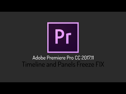 Timeline and Panels Freeze FIX | Adobe Premiere Pro CC